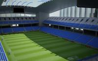realistic stadium soccer c4d