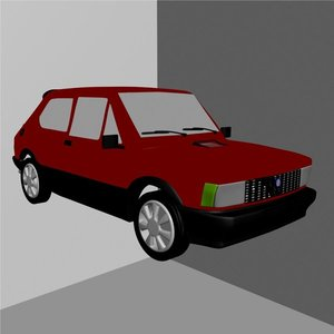 car fiat 127 3d model