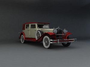 3d 1930 packard lebaron