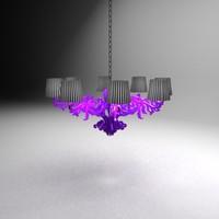1 floor chandelier 3d max