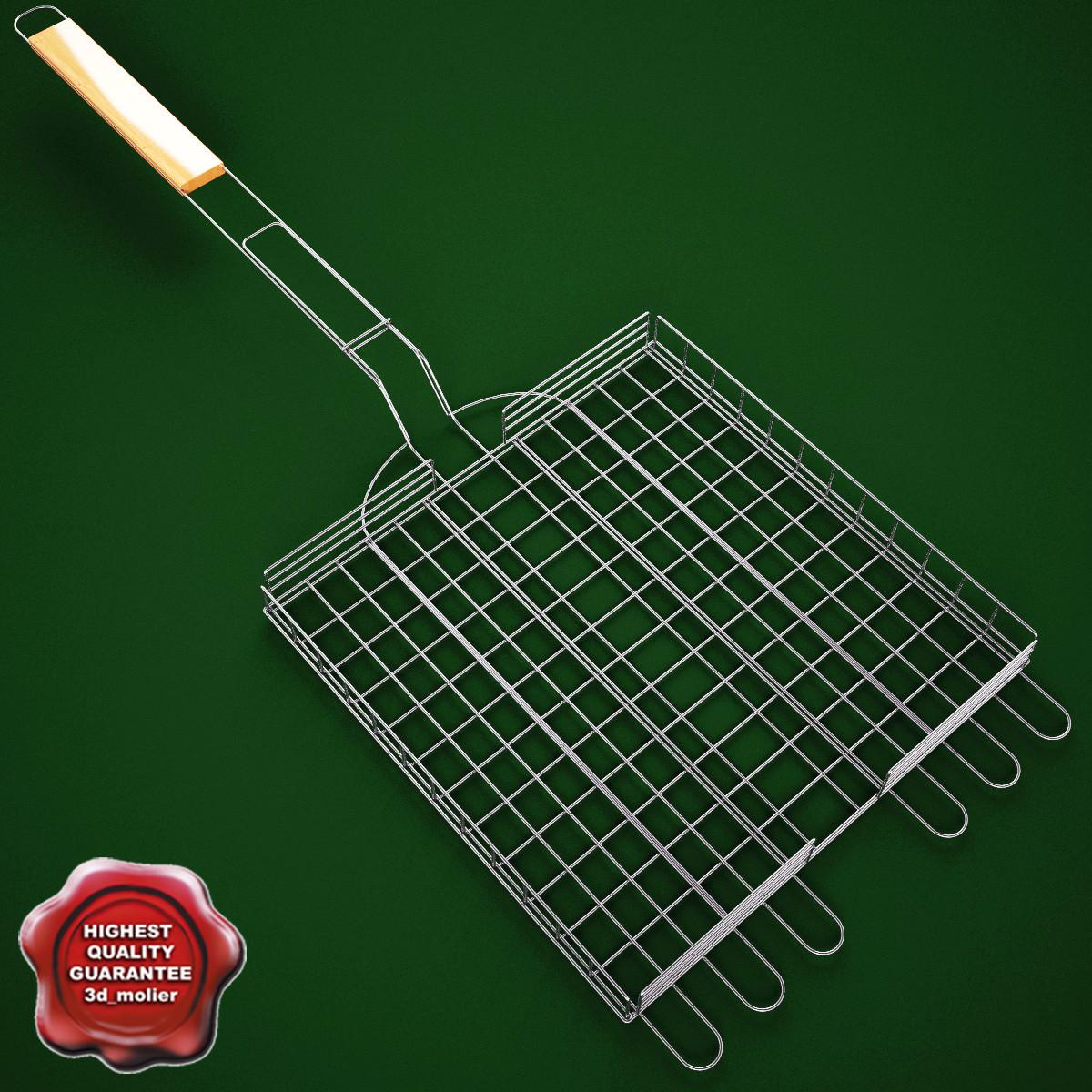 barbecue grill wire 3d model
