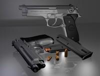 3d italian pistol gun
