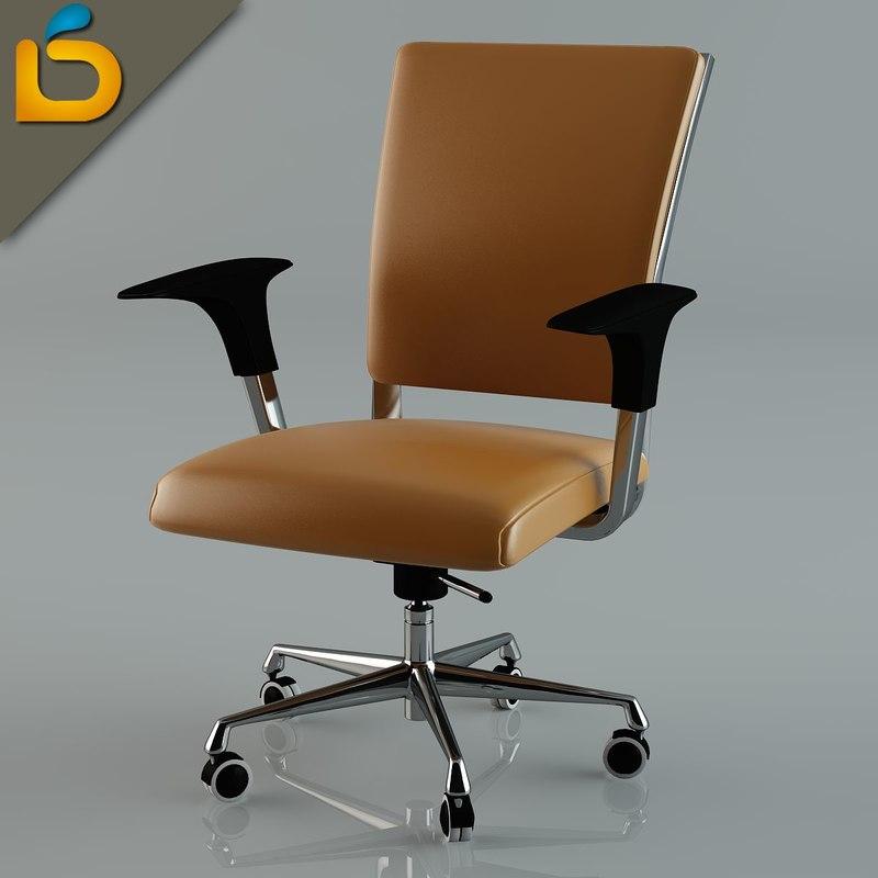 3d desktop chair model