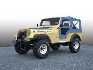 3d jeep cj 5 renegade model