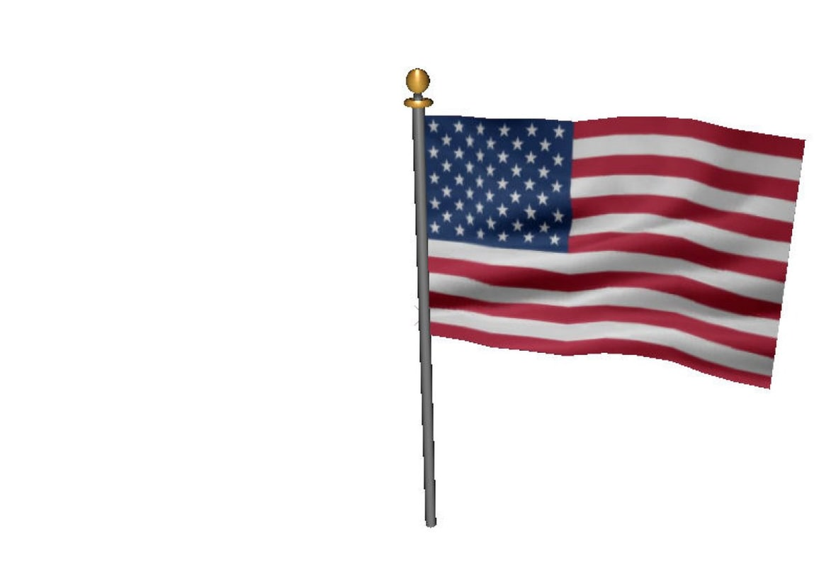 3dsmax usa flag