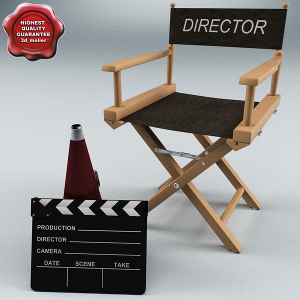 3d director set model