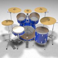 Drum Kit: C4D Format