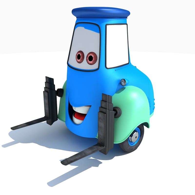 Guido Characters Cars 2 3d Model
