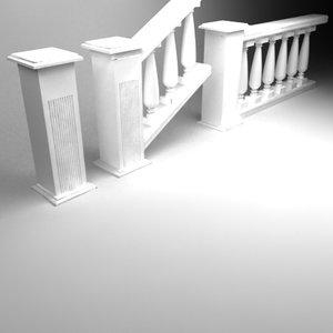 3d model handrail