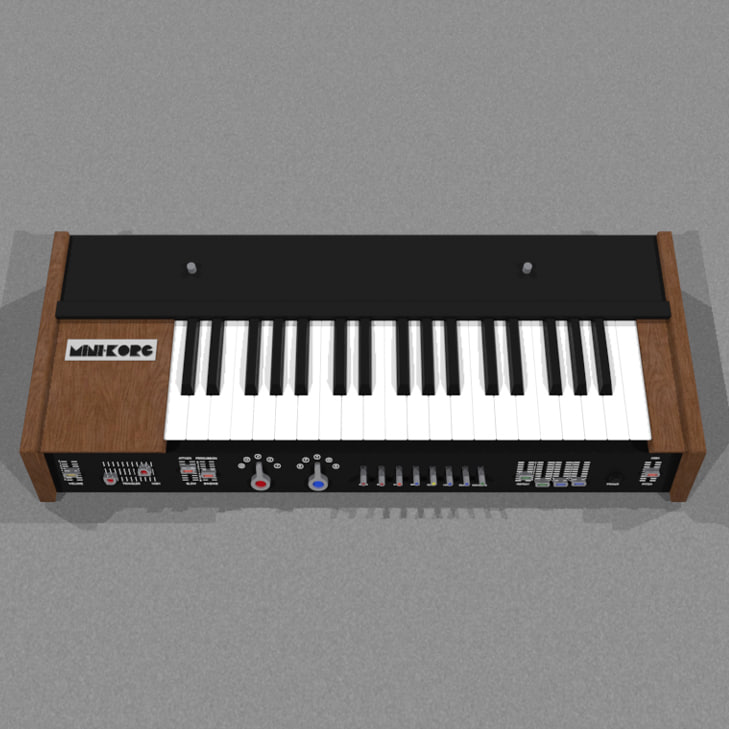 3d model synth synthesizer korg