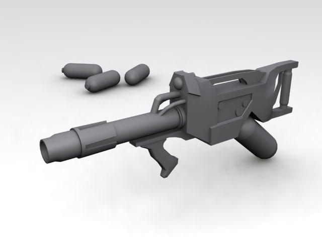 3ds max futuristic flame thrower