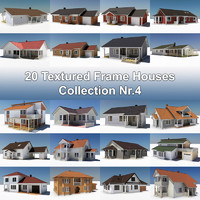 3d model of 20 frame houses nr