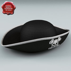 c4d pirate hat v2
