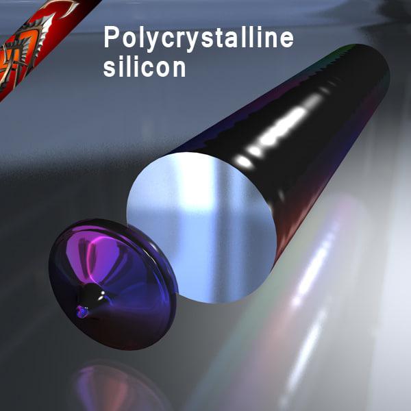 cinema4d polycrystalline silicon crystall