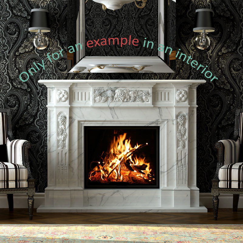 fireplace 24 3d model