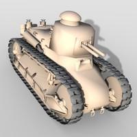 renault military tank 3d model