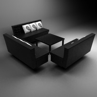 Set of capitonage sofas