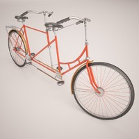 3d model of tandem bicycle