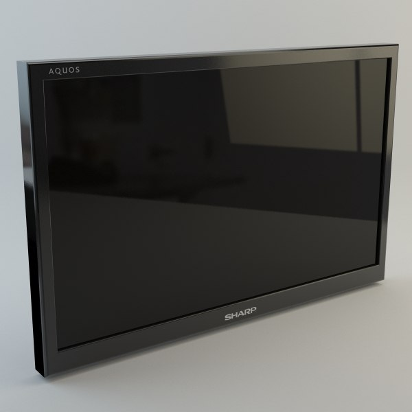3d model 60 plasma tv v-ray
