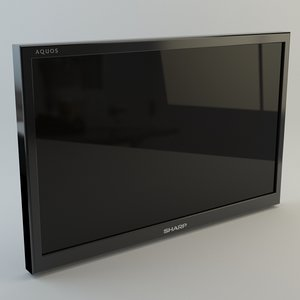 3d model 60 plasma tv v-ray