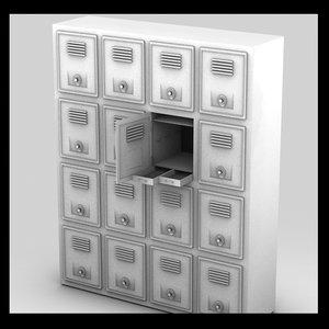 3ds max locker metal bank