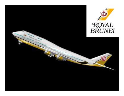 3d brunei royal 747 model