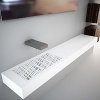 Toscoquattro Concerto washbasin stand shelf