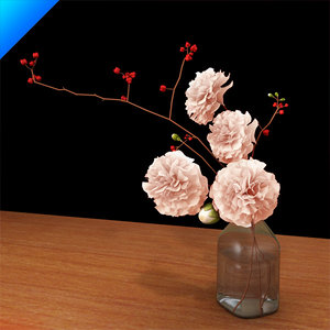 3d flower arrangement design