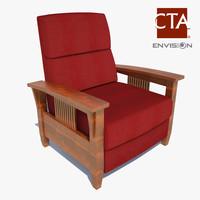 lounge chair 3d obj