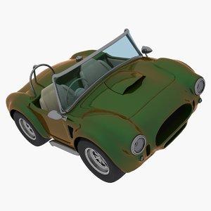 caricature car cobra 3d max