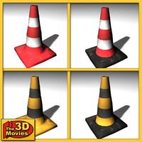 3d model 4 traffic cones