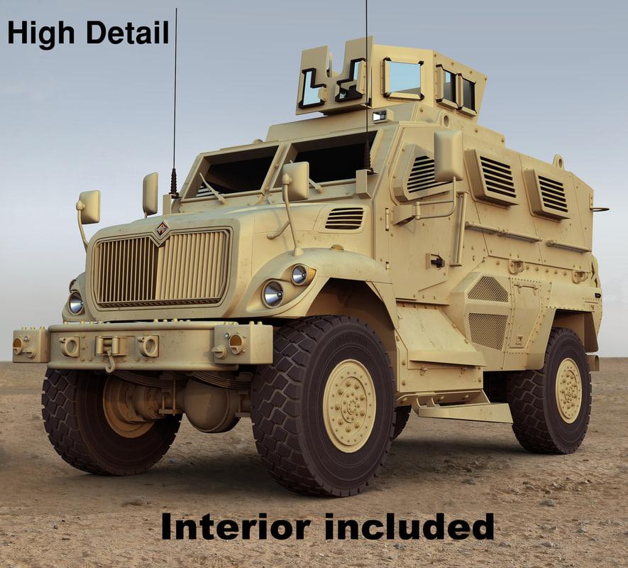 3d maxxpro mrap vehicle model