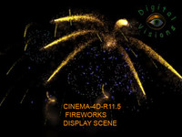 3d fireworks display model