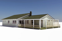 3d model story single family house