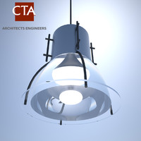 pressure sodium ceiling light 3d obj