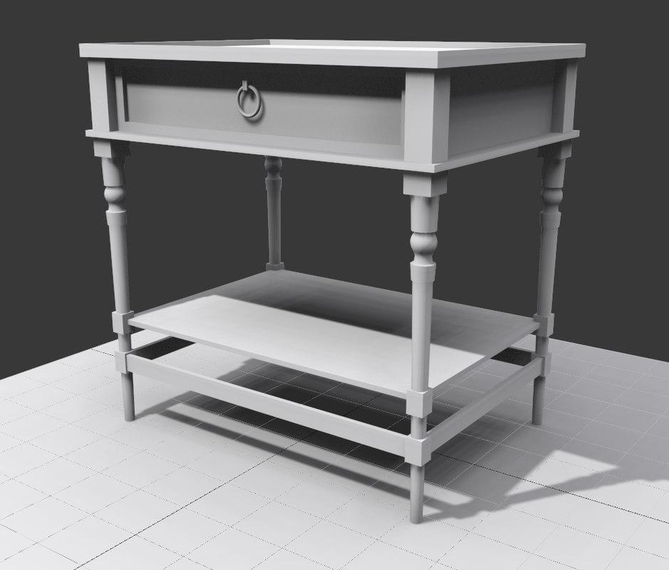 table nightstand 3d model