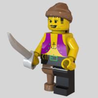 Lego Pirate Minifigure