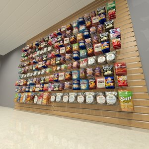snacks chips slatwall 3d max