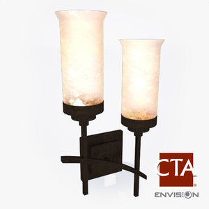 sconce glass bowl 3ds