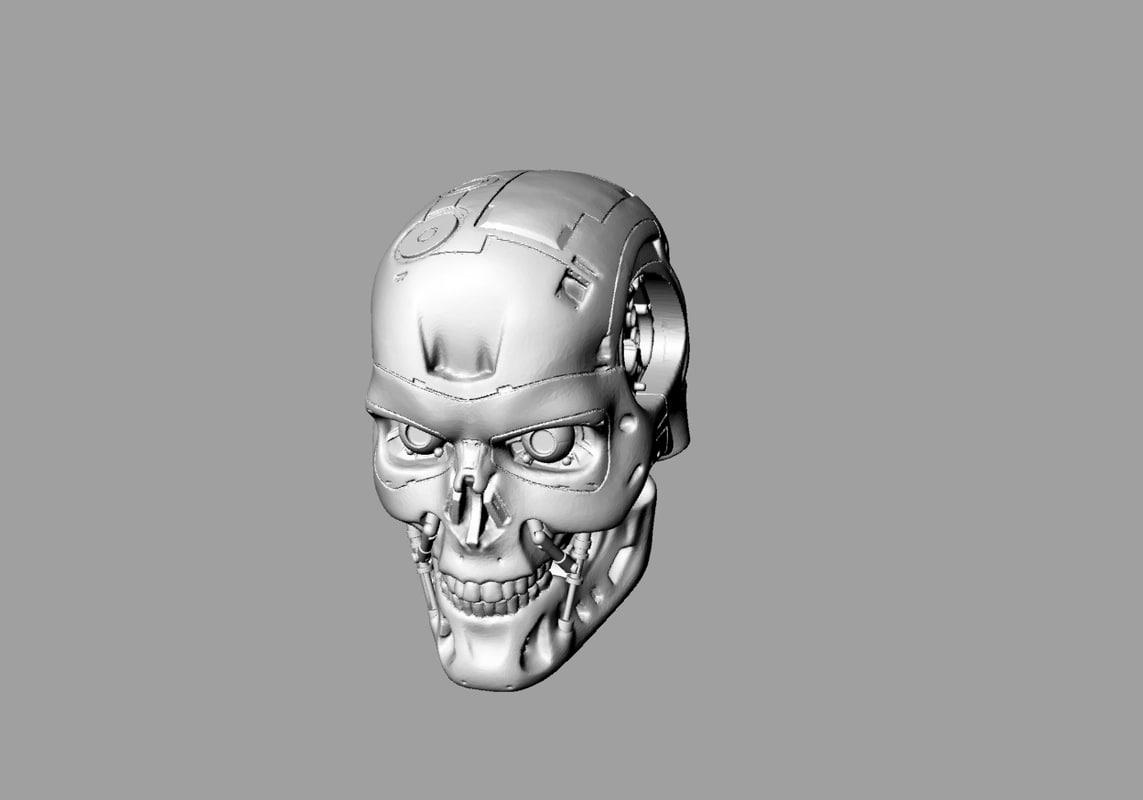 terminator endo skull obj