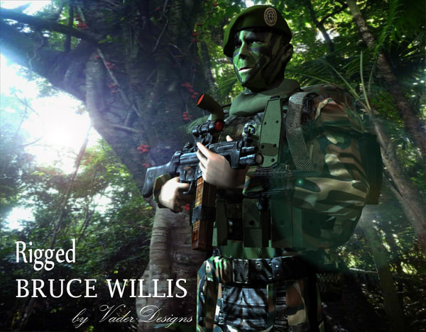 bruce rigged soldier willis max