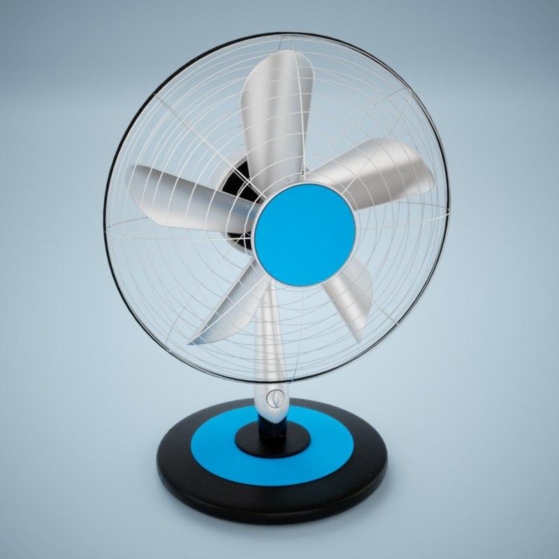 3d office fan