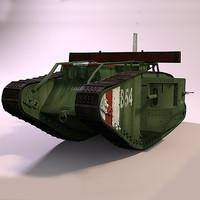 british mark v tank 3d model