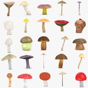 3ds max 25 mushrooms
