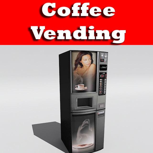 3d 3ds coffee vending machine