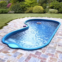 garden pool exterior 3d model