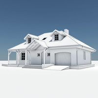 single house garage 3d 3ds