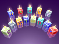 birthday candles 3d model
