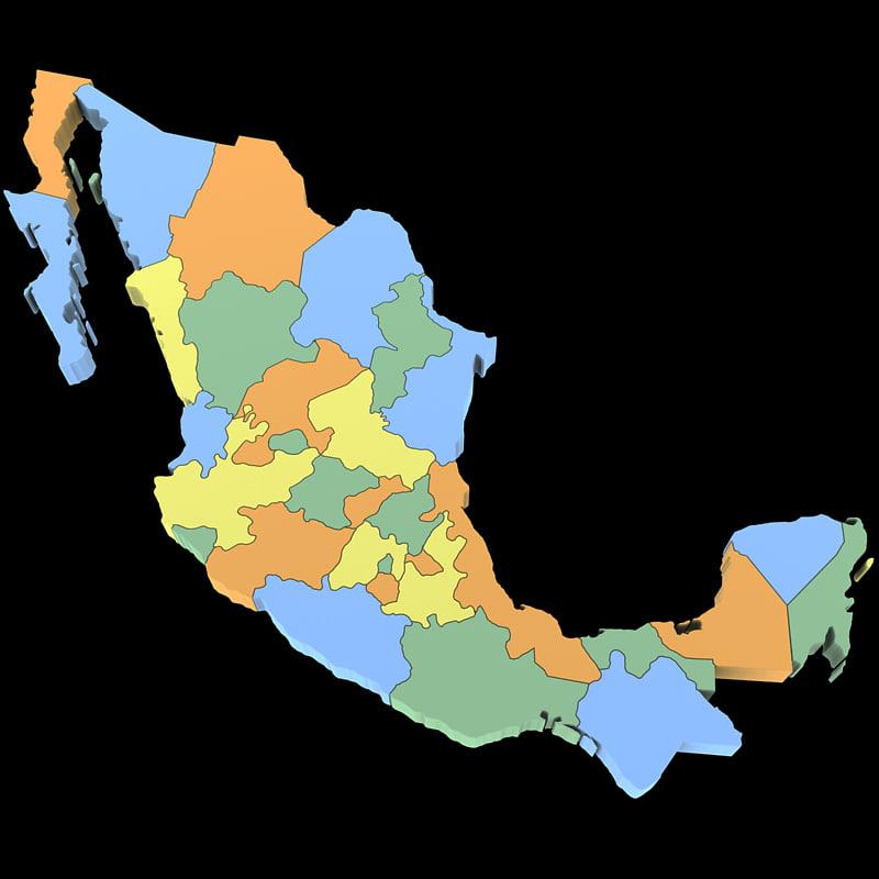 3d mexico mexican federal model