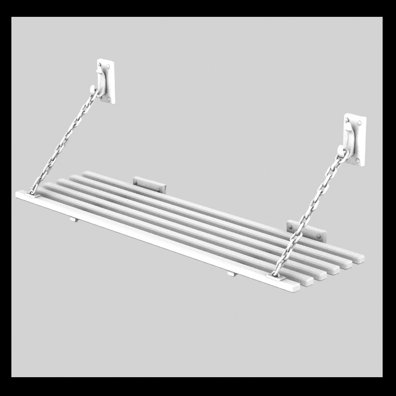 3d model of hang bed
